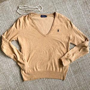 Ralph Lauren tan v-neck sweater